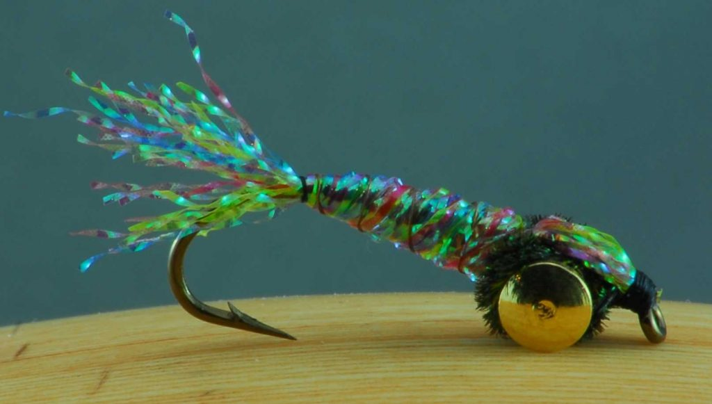 Manitoba Fly Tying Robert Burton Flashabou nymph/fry
