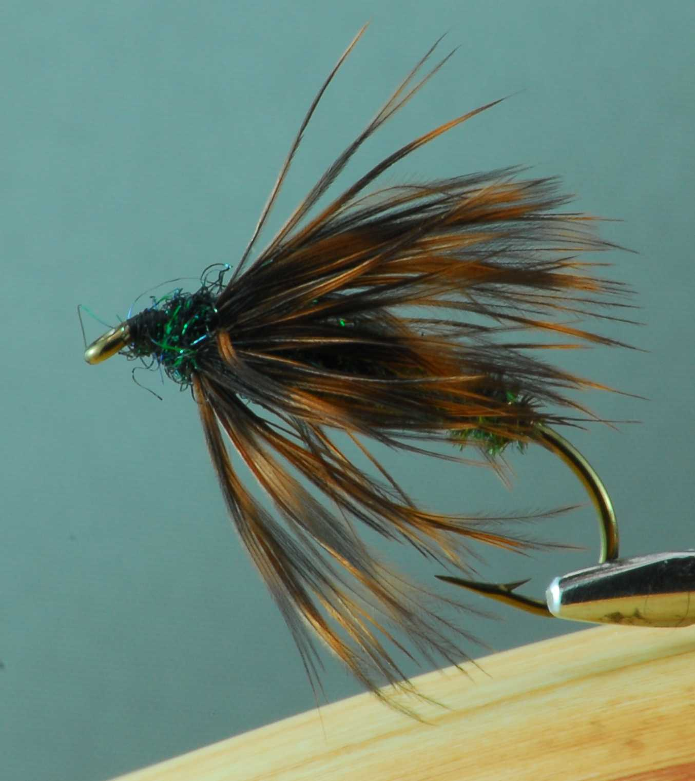 Peacock hackle fly Robert Burton Winnipeg